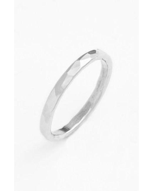 Nashelle | Metallic Ija Hammered Ring | Lyst