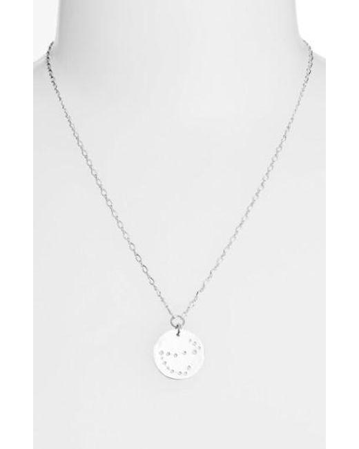Nashelle | Metallic Ija 'large Zodiac' Sterling Silver Necklace | Lyst