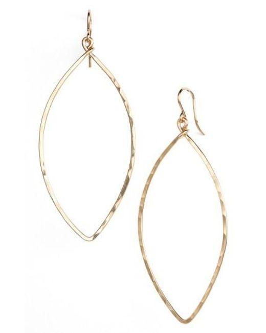 Nashelle | Metallic Ija Oblong Hoop Earrings | Lyst