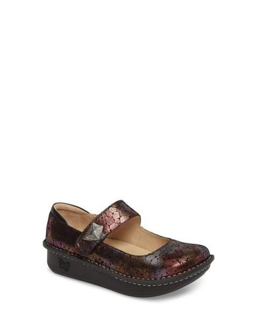 Alegria | Red Paloma Printed Slip-On Flats | Lyst