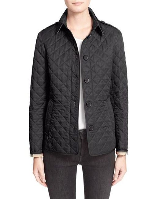 Burberry Brit | Blue Ashurst Quilted Shell Jacket | Lyst