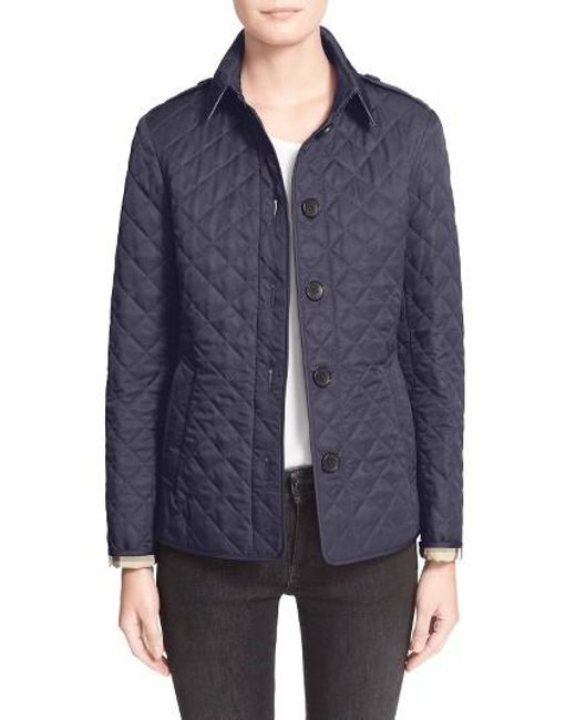 Burberry | Blue Ashurst Quilted Shell Jacket | Lyst