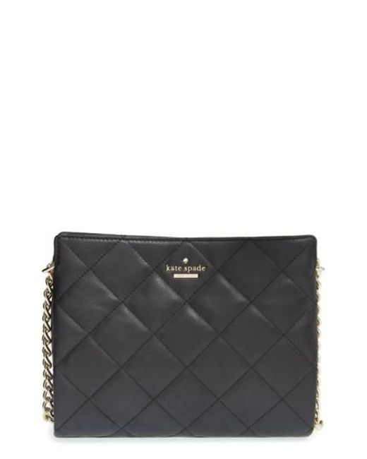 Kate Spade | Black 'emerson Place - Mini Convertible Phoebe' Quilted Leather Shoulder Bag | Lyst