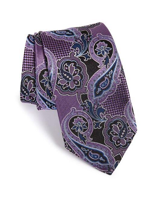 JZ Richards   Purple Paisley Woven Silk Tie for Men   Lyst