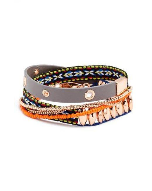 Rebecca Minkoff | Metallic Wrap Bracelet | Lyst