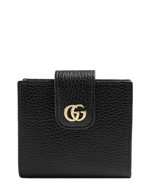 Gucci Black Gg Marmont Leather Wallet