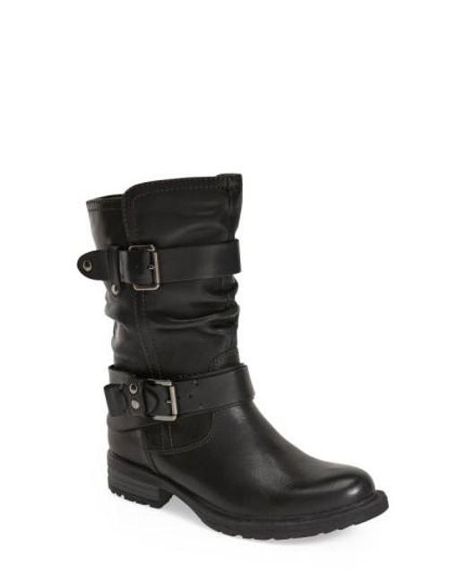 Earth   Black Everwood Leather Mid-Calf Boots   Lyst