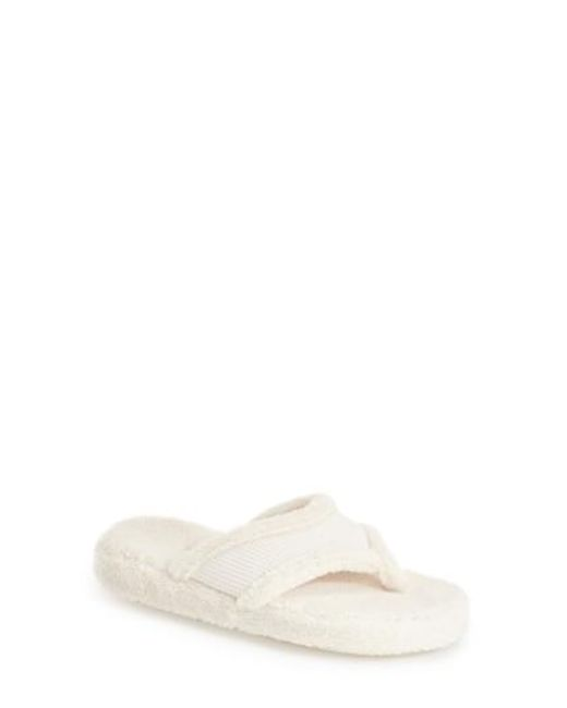 Acorn   Natural Waffle Spa Slippers   Lyst