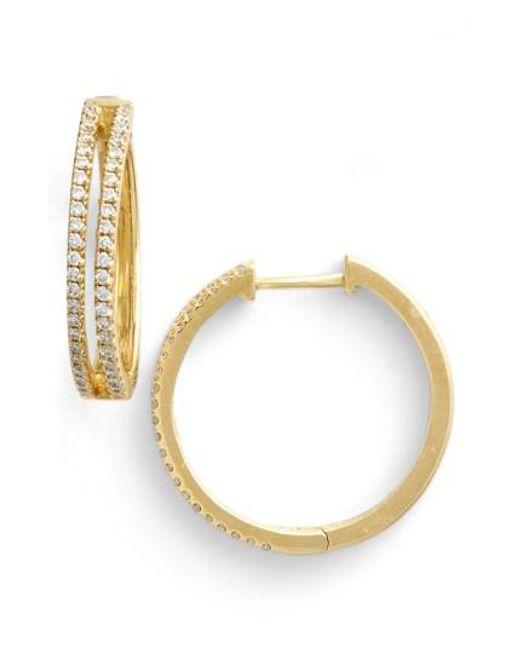 Bony Levy | Yellow Diamond Split Hoop Earrings (limited Edition) (nordstrom Exclusive) | Lyst