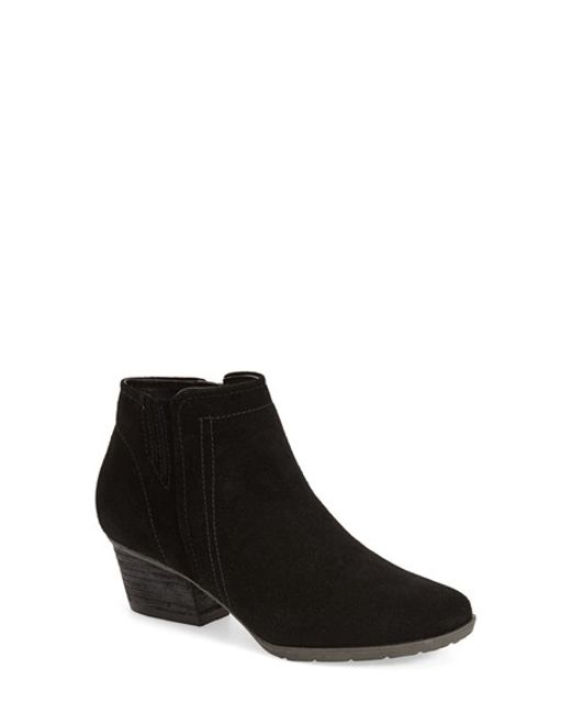 Blondo | Black Valli Water-Resistant Suede Ankle Boots | Lyst