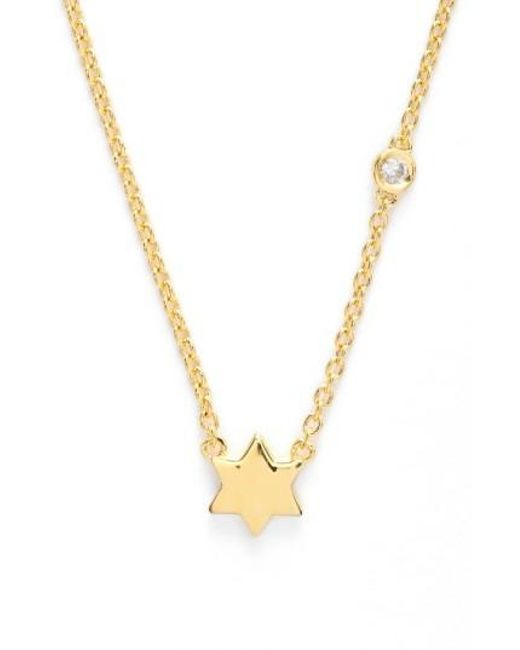 Shy By Sydney Evan | Metallic 'star Of David' Necklace | Lyst