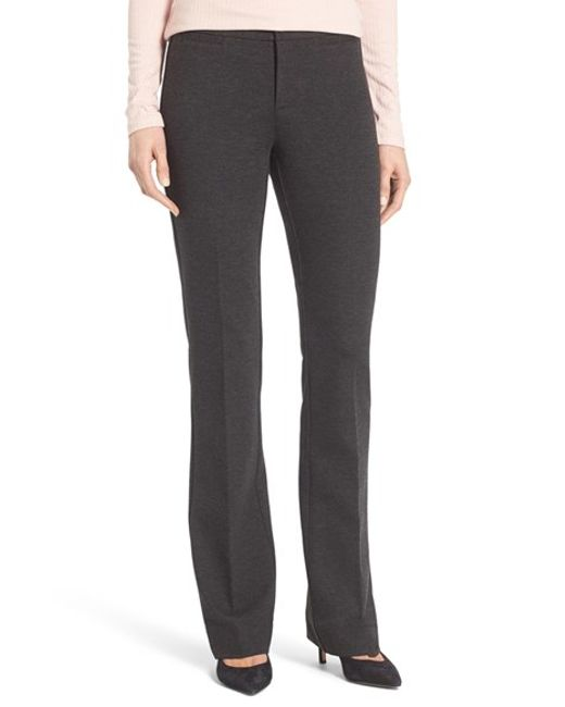 NYDJ | Gray Michelle Stretch Ponte Trousers | Lyst