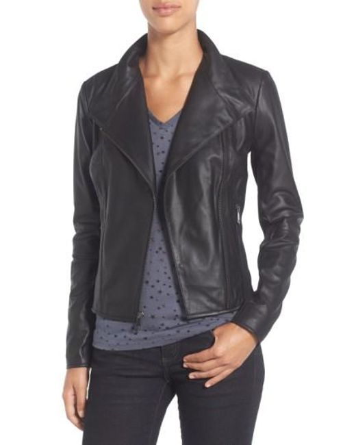 Marc New York | Black By Andrew Marc 'Felix' Stand Collar Leather Jacket | Lyst