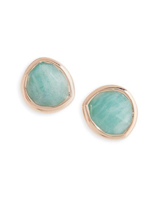 Monica Vinader - Blue 'siren' Semiprecious Stone Stud Earrings (nordstrom Exclusive) - Lyst