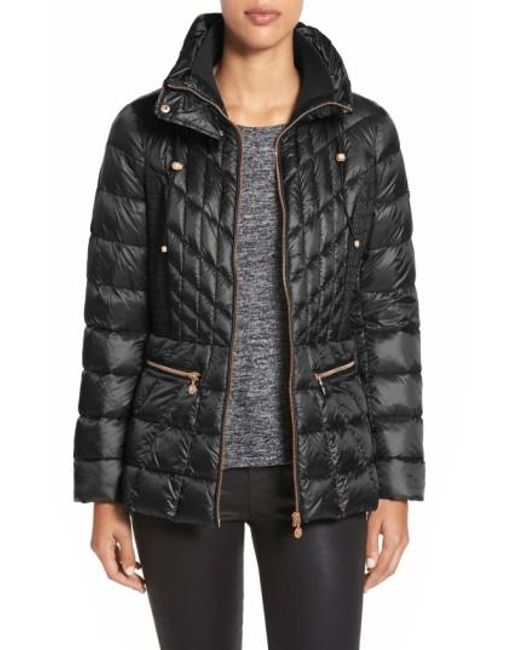 Bernardo | Black Quilted Down-Filled Jacket | Lyst