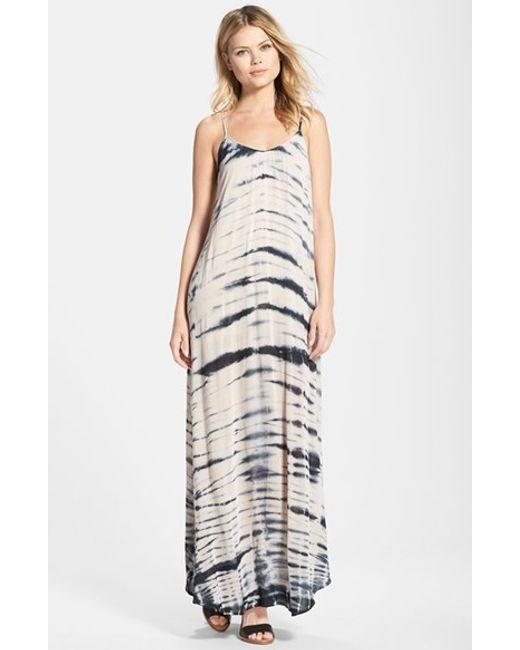 Fraiche By J   White Tie Dye A-line Maxi Dress   Lyst
