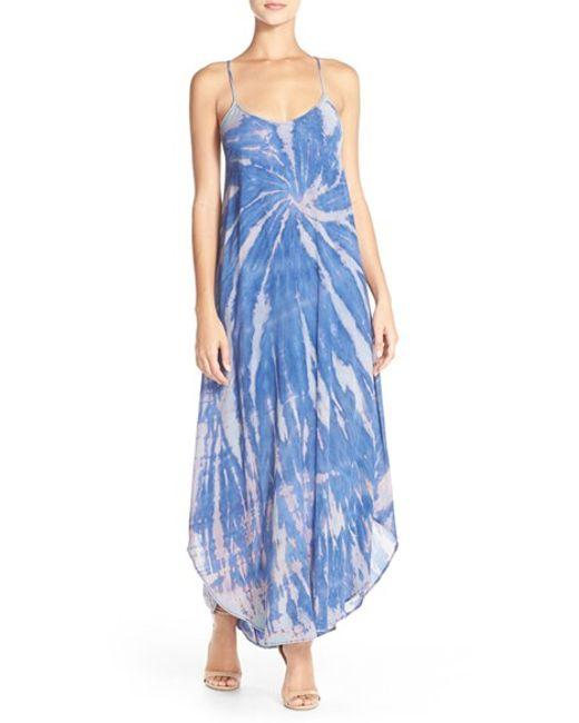 Fraiche By J | Blue Tie Dye A-line Maxi Dress | Lyst