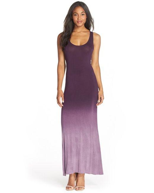Fraiche By J | Purple Ombre Racerback Maxi Dress | Lyst
