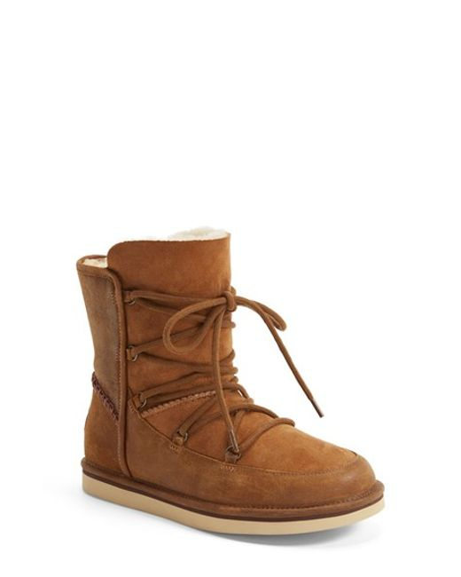 UGG | Multicolor Lodge Sheepskin-lined Leather & Suede Lace-up Boots | Lyst
