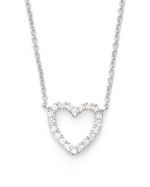 Bony Levy | White Diamond Heart Pendant Necklace (limited Edition) (nordstrom Exclusive) | Lyst