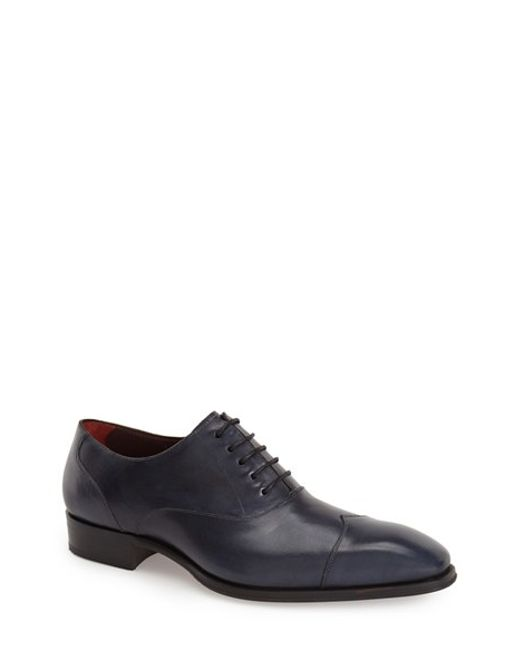 Mezlan | Blue 'toulouse' Cap Toe Oxford for Men | Lyst