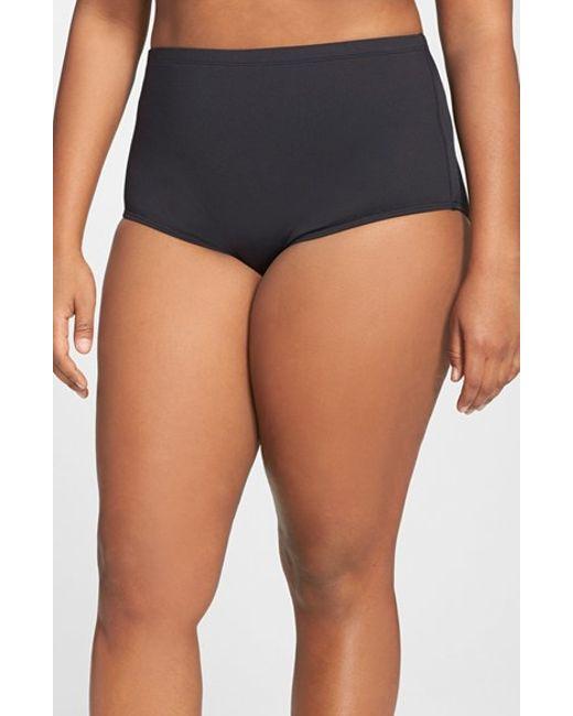 La Blanca | Black High Waist Bikini Bottoms | Lyst