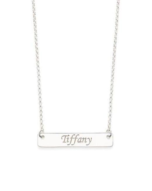 Argento Vivo | Metallic Personalized Script Bar Pendant Necklace | Lyst
