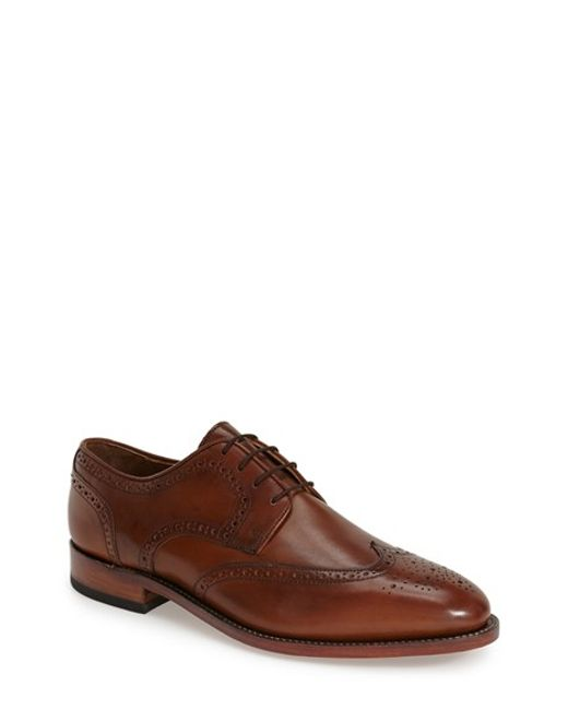 Johnston & Murphy | Brown 'melton' Wingtip for Men | Lyst