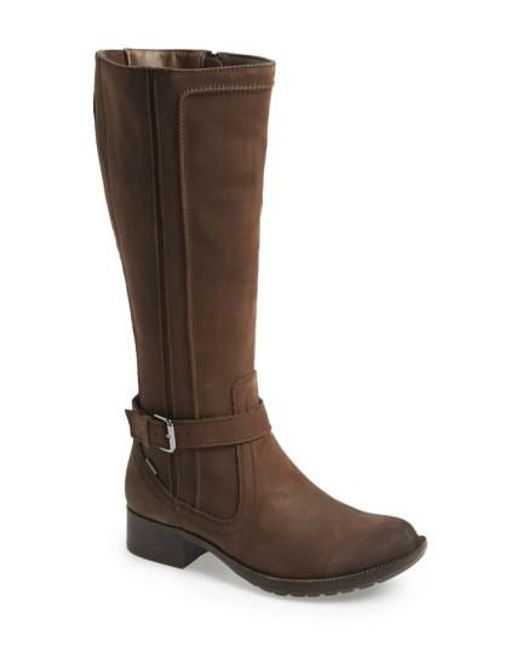 Cobb Hill | Brown Christy Waterproof-Leather Knee-High Boots | Lyst