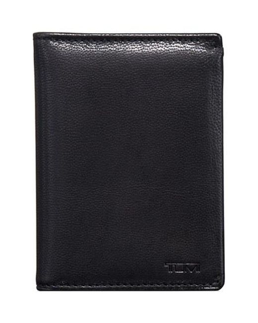Tumi | Black 'chambers' Leather L-fold Wallet for Men | Lyst
