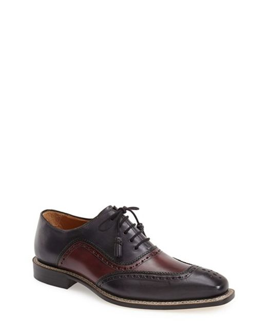 Mezlan | Purple 'cadiz' Brogue Oxford for Men | Lyst