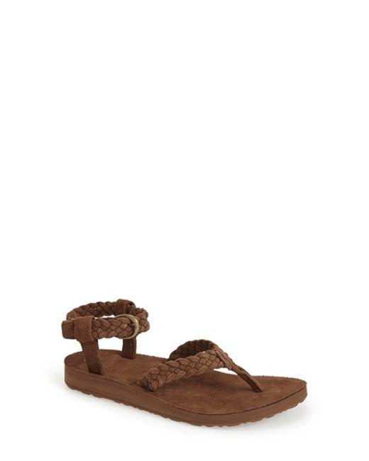 Teva | Brown 'original' Ankle Strap Sandal | Lyst