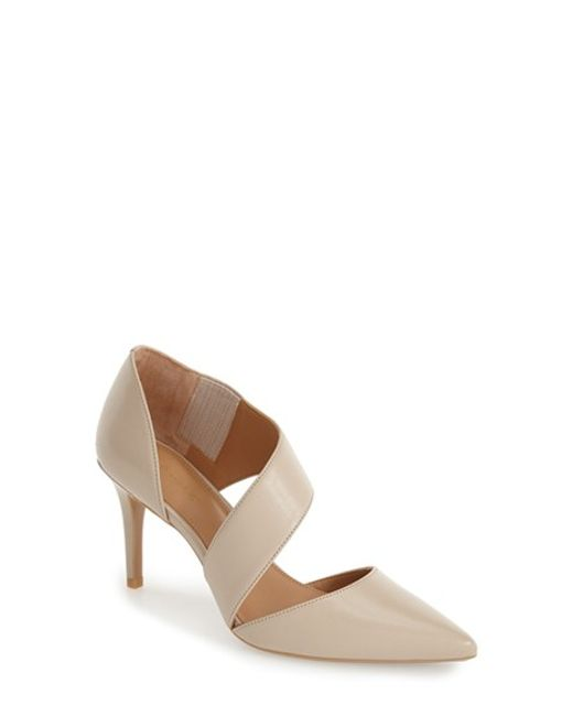 Calvin Klein | Brown 'gella' Pointy Toe Pump | Lyst
