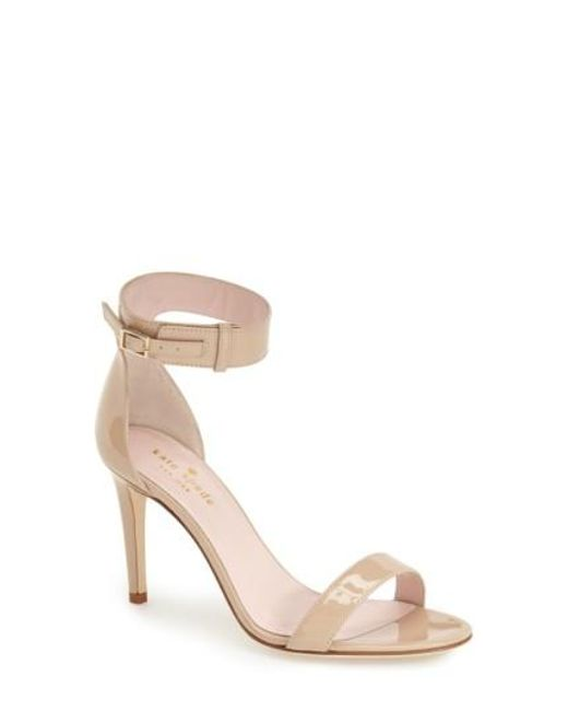 Kate Spade | Natural 'isa' Ankle Strap Sandal | Lyst