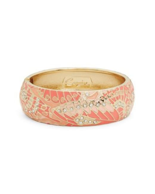 Sequin | Pink Mariposa Wide Bangle | Lyst