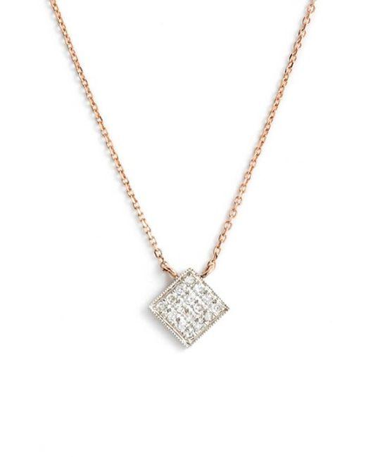 Dana Rebecca | Yellow 'lisa Michelle' Diamond Pave Square Pendant Necklace (nordstrom Exclusive) | Lyst