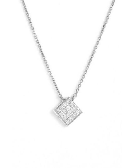 Dana Rebecca | Metallic 'lisa Michelle' Diamond Pave Square Pendant Necklace (nordstrom Exclusive) | Lyst