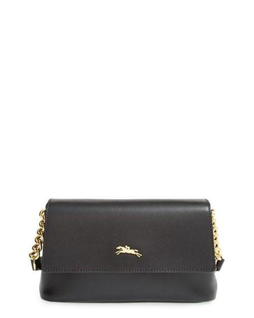 Longchamp | Black Honore Leather Cross-Body Bag | Lyst