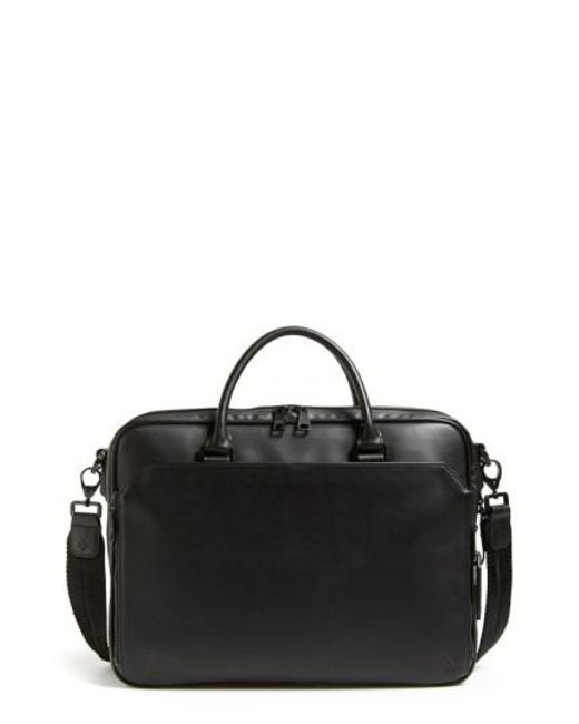 Vince Camuto   Black Turin Leather Briefcase for Men   Lyst