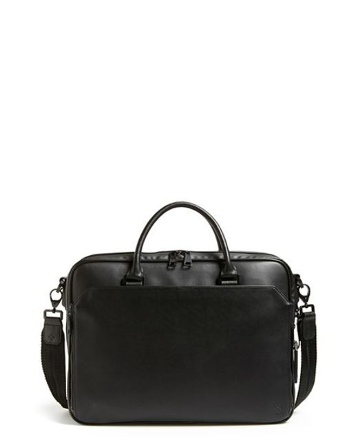 Vince Camuto | Black Turin Leather Briefcase for Men | Lyst