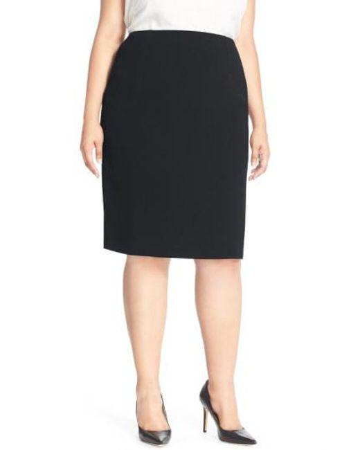 Louben | Black Suit Pencil Skirt | Lyst