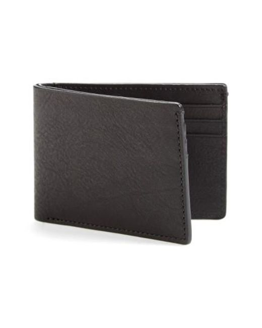 Bosca | Black Leather Wallet for Men | Lyst