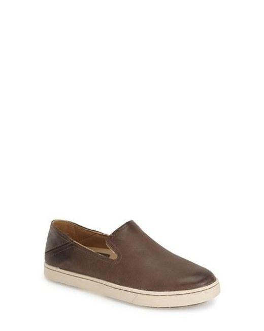 Olukai | Brown 'kailua' Slip-on Sneaker | Lyst