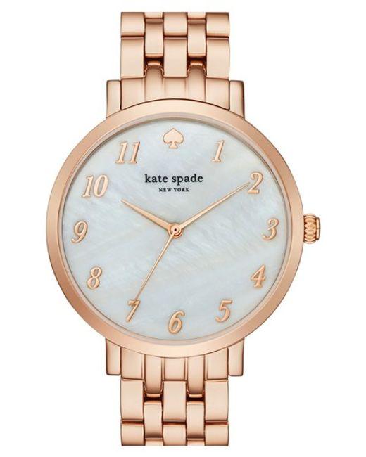 Kate Spade   Pink 'monterey' Bracelet Watch   Lyst