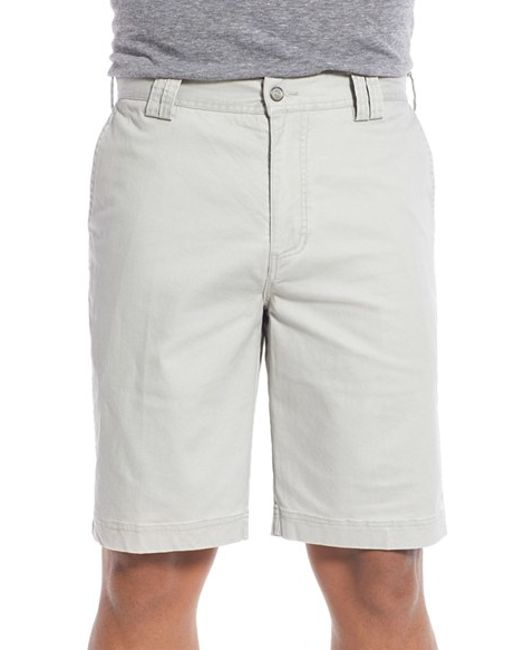 Tori Richard | Gray 'Carmel' Trim Fit Stretch Twill Shorts for Men | Lyst