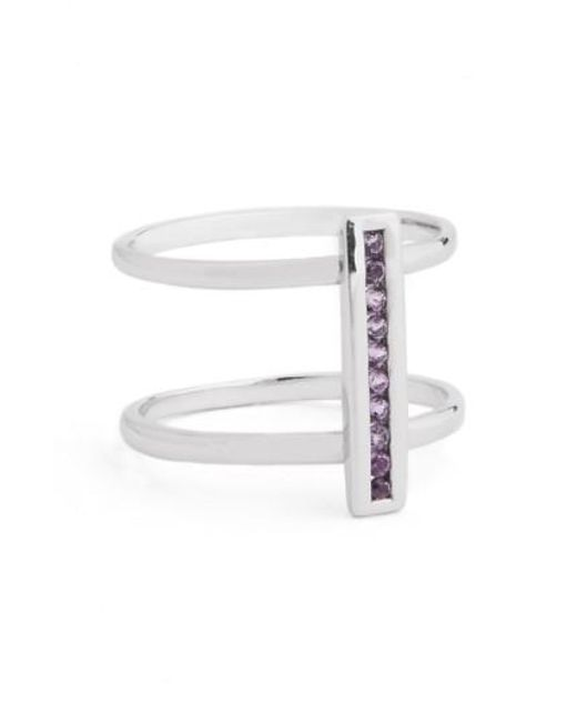 Anna Sheffield | Metallic 'licol' Light Amethyst Bar Ring | Lyst