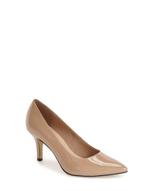 Bella Vita | Natural Define Pointed-Toe Patent-Leather Pumps | Lyst