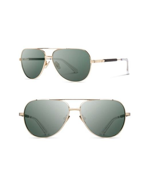 Shwood | Metallic 'redmond' 56mm Titanium & Wood Sunglasses for Men | Lyst