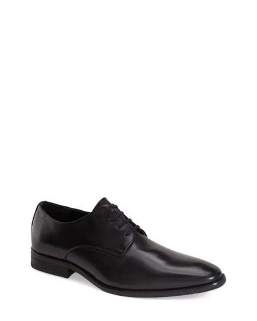 Calvin Klein | Black 'ramses' Plain Toe Derby for Men | Lyst