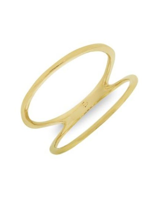 Bony Levy   Yellow 14kt Two Bar Ring (nordstrom Exclusive)   Lyst